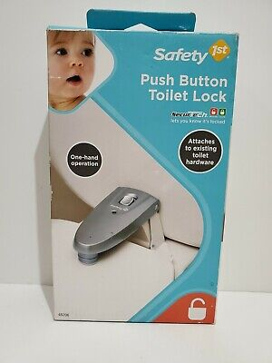 Safety 1st Push-Button Toilet Lock For Children Fits Standard Toilets