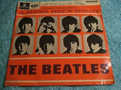 the beatles hard days night extracts   1st  press EP 8924