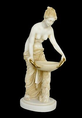 Hestia Alabaster aged sculpture - Greek Goddess of the Family and the State