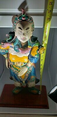 Antique Chinese Roof  Statue Wood Mounted Asian Art