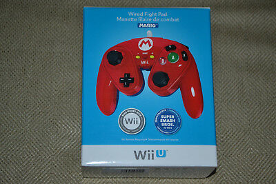Nintendo Wii U Mario Wired Fight Pad Classic Controller PDP Brand New Smash Bros