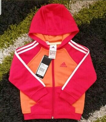 Infant Girls Adidas Track Top Age UK 3M - 4 Years