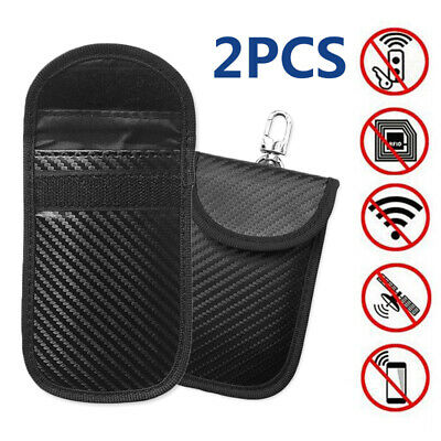 2*Car Key Signal Blocker Case Faraday Cage Fob Pouch Keyless RFID Blocking Bag