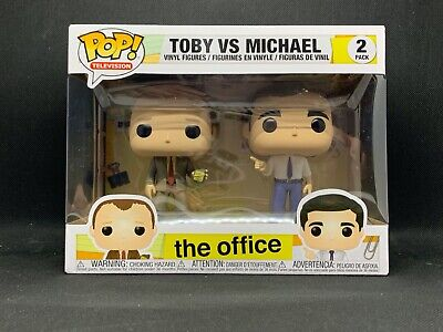 Funko POP! TV: The Office Toby vs Michael 2 Pack Vinyl New in Box PRIORITY MAIL