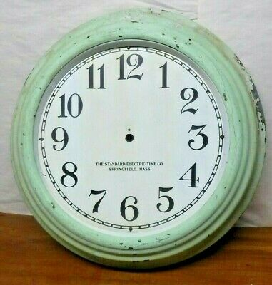 Standard Electric Time Co. Springfield Mass. Gallery Wall Clock Case And Dial