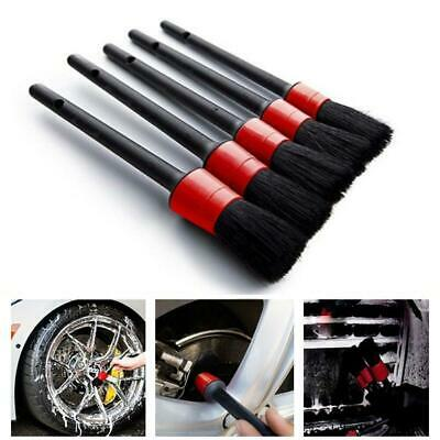 Set Of 5 Car Detailing Brush Kit Auto Car Interior Cleaning Tool For Wheel Clean