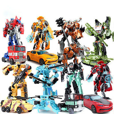 Optimus Prime Transformers Action Figure Bumble Bee Kids Robot Toy Xmas Gift
