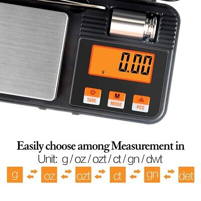 Pocket Digital Jewelry Scale Weight 200g x0.01g Balance Electronic Gram Mini AU