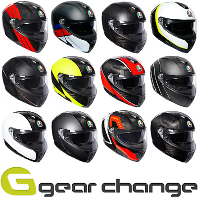 AGV Sports Modular Carbon Flip-Front Motorcycle Motorbike Helmet -UP TO 50% OFF!
