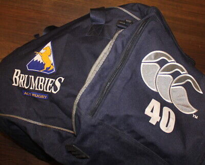 Act Brumbies Rugby Football Union Player Issue Kit Bag Luggage Back Pack Ccc