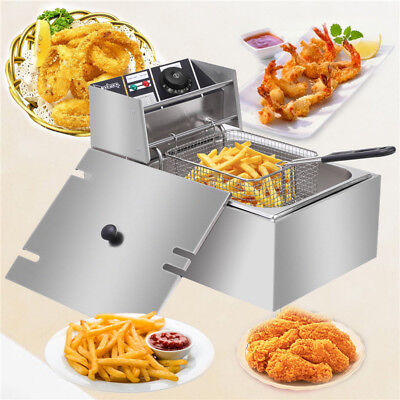 2500W Professional Commercial Electric Countertop Deep Fryer Restaurant Basket
