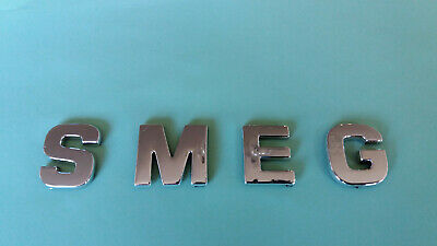 Chrome / Silver Smeg Letters / Word, Correct Font, Self Adhesive, Good Quality