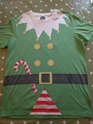 "Next Mens Christmas Elf T Shirt Large 42-44"" Brand New With Tags!"