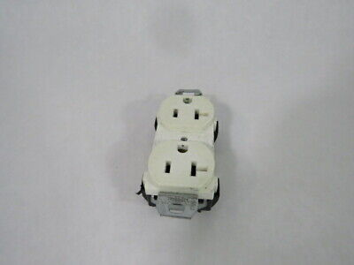 Hubbell CR20WHI Spec Grade White Duplex Receptacle 20A 125V 3W 2P  USED