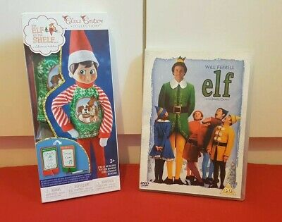 ELF - Christmas DVD Region 2 Will Ferrell + New ELF on the shelf Costume