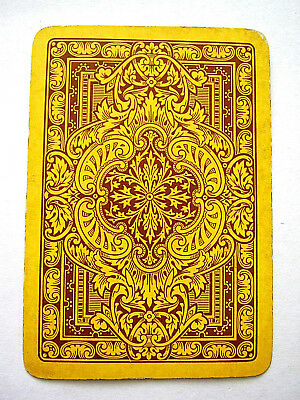 Single Swap Antique English Wide Very Ornate Acanthus Leaf Playing Card