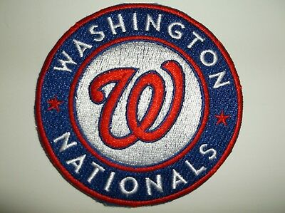 """Washington Nationals Embroidered PATCH~3 1/2"""" Round~Iron Sew~MLB~FREE US Mail"""