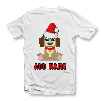 Kids Personalised Christmas Pup T-Shirt | Cool | Novelty Gifts | Xmas | Pup