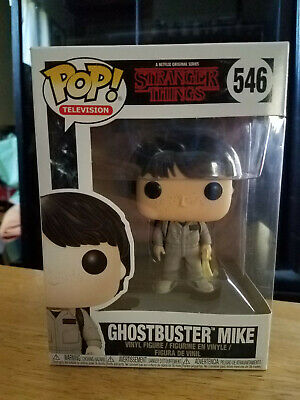 Funko Stranger Things Pop! Ghostbuster Mike #546 Figure With Protector