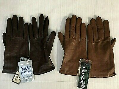 Aris Too Womens Leather Gloves New Cashmere Blend Lined Your Choice