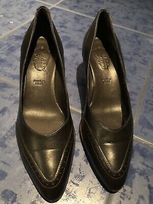 ELENA SHOES MADE in Italy Schuhe Pumps Leder Herbstbraun Gr