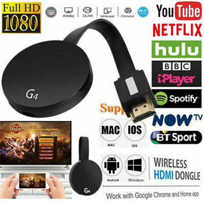 Chromecast 4rd Generation HDMI Digital Video HD 1080P-Media Streamer Android IOS