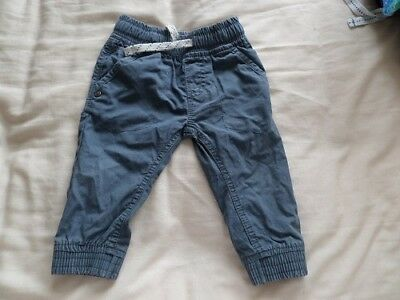 Next Boys Blue Joggers Trousers Size 6-9 Months