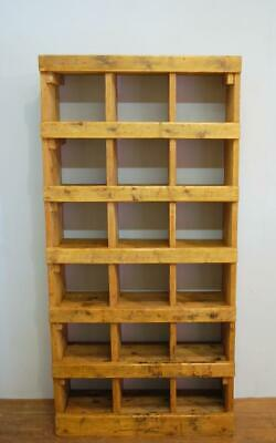 Antique Pine Victorian Pigeon Hole Shelf 1880  Cubby Hole Unit