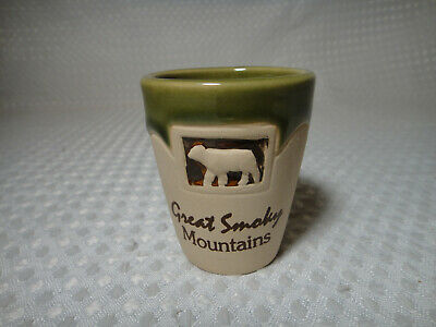 Great Smoky Mountains Tennessee Souvenir Ceramic Shot Glass
