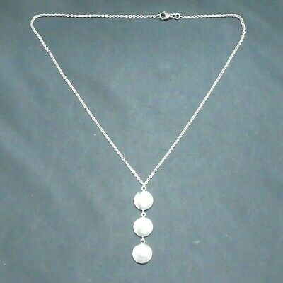 Authentic Tiffany & Co 925 Sterling Silver Italy Triple Circle Disc Drop 16""