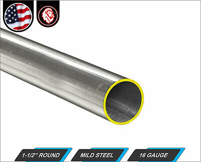 "1-1/2"" Round Tube - Cold Formed Mild Steel - 16 gauge - ERW (36"" Long) 3-ft."