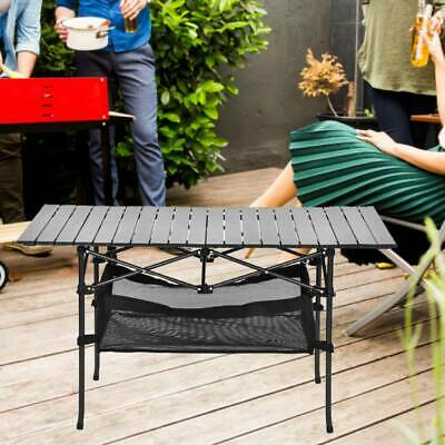 4FT Folding Camping Table Portable Lightweight Adjustable Trestle Party BBQ Desk
