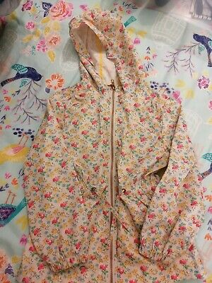 Next Ditsy Print Girls Rain Coat Jacket Cagoule Age 7 Years Pink Blush Floral