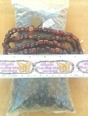 Rootbeer Brown Crow African Indian Trade Beads Murano Venetian Vintage Glass Lot