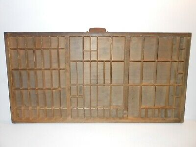 Vintage Printers Wooden Type Drawer Letterpress  Wood Tray  Local Pickup ONLY