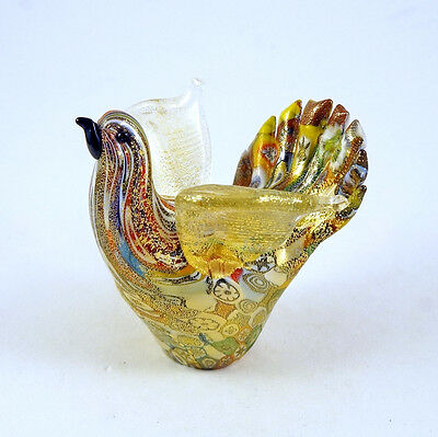 New Murano Millefiori Beautiful Dove Bird Figurine Italian Art Glass Venice