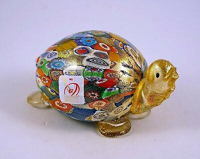 New Murano Millefiori Turtle Figurine Italian Art Glass Murano Sticker
