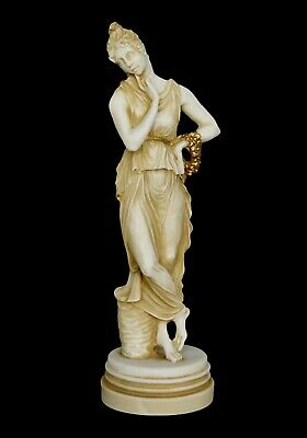 Persephone Queen of the Underworld Alabaster aged statue sculpture Demeter Kore