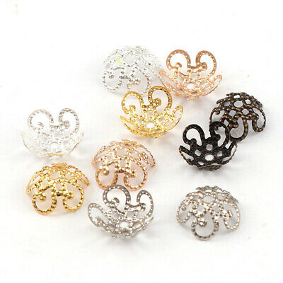 End Spacer For Jewelry Finding Metal Bead Caps 8/10mm Hollow Flower