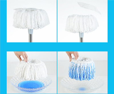 Lot of 5 Microfiber Mop Head Refill Replacement for Magic Mop 360° Spin