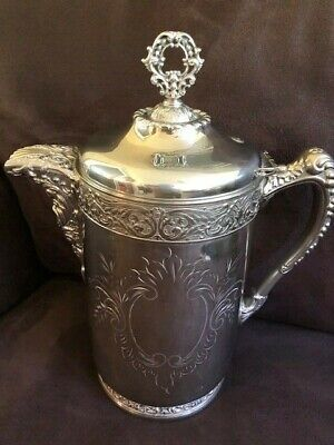 Stunning Antique Victorian Silver Quadruple Plate ICE WATER PITCHER
