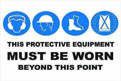 Multi-Condition PPE Signs -  MULTIPLE CONDITION - BEYOND THIS POINT