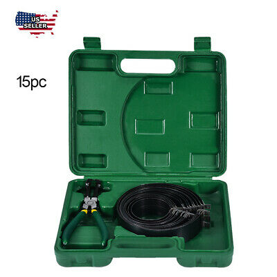 Heavy Duty Auto Engines Piston Ring Compressor Tools Set With Plier&14 Bands New