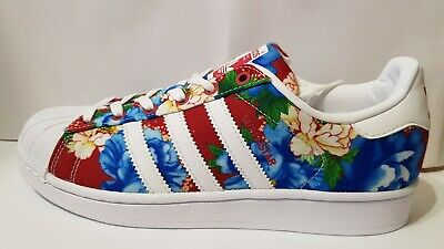 2016ADIDAS ORIGINALS x THE FARM CHITA SUPERSTAR BA7585 Red Floral Oriental | eBay