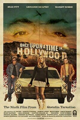 Once Upon a Time in Hollywood 2019 Hot Movie Silk Canvas Poster Print 20x30 inch