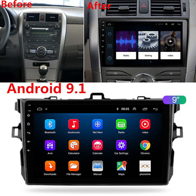 "2DIN 9"" Android Radio Stereo GPS Navigation Wifi 2+32GB For Toyota COROLLA 06-12"