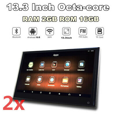 "Paar 13.3"" HD Autositz Touchscreen Android 8.0 Octa Core Wifi HDMI IN+OUT 3G 4G"