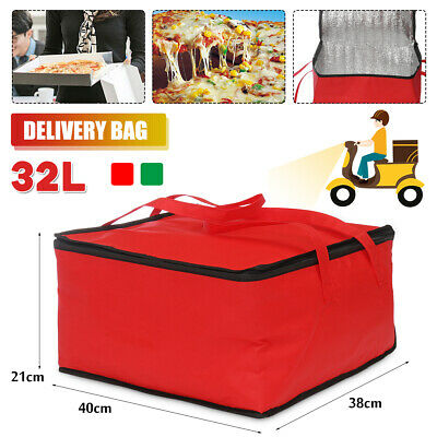 UK Hot Food Pizza Takeaway Restaurant Delivery Bag Thermal Insulated 40x38x21cm