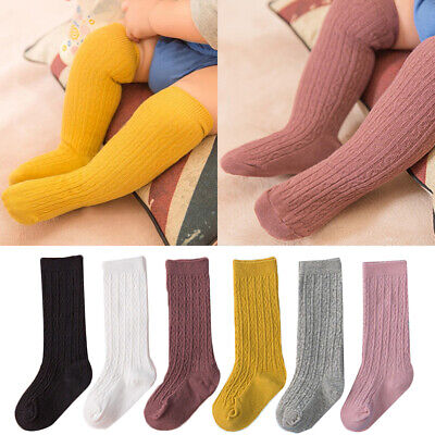 Toddler Baby Girls Cotton Knee High Socks Tights Leg Warmer Stockings For 1-5Y