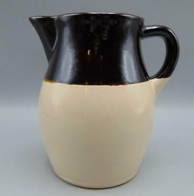 """Robinson Ransbottom Vintage Pitcher Roseville Ohio/OH RRP 2 tone Brown 6"""""""